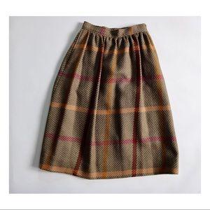 Evan Picone Vintage 80s Wool Fall Colors Skirt